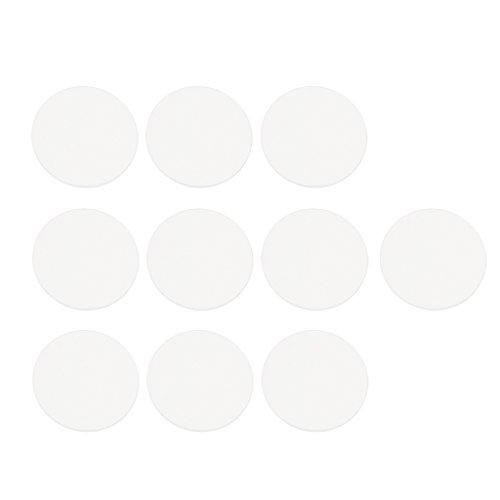 10 Piezas de Vidrio Templado de Reloj Redonda Mineral Plano Accesorio de Repuesto Duradero - 36 mm