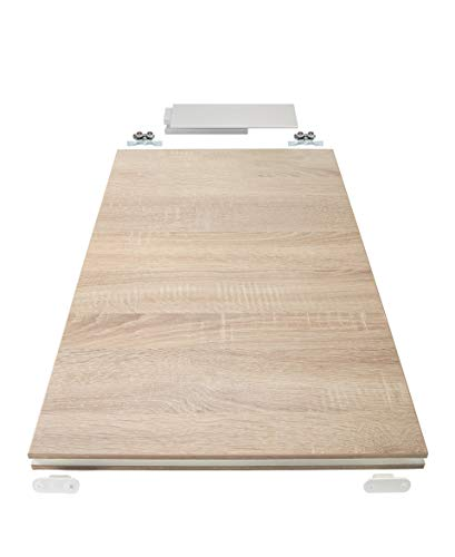 Rahmenlose Holzschiebetür in Wildeiche | Maße des Türblattes: 900 x 2035 mm | Inkl. Beschläge und einer oberen Laufschiene in 2 Metern | Geeignet als Zimmertürersatz - 3