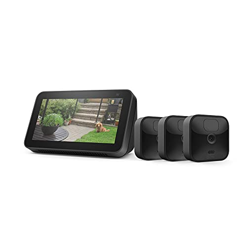 Blink Outdoor 3 Cam Kit bundle with Echo Show 5 (2nd Gen)