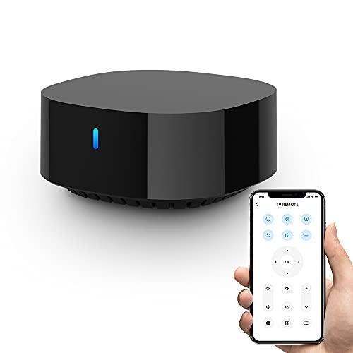 broadlink RM4 TV Mate Telecomando BroadLink Smart TV, controllo vocale Alexa per Samsung TCL TV, unico telecomando universale per l'intrattenimento IR. Funziona con Alexa, Google Home, IFTTT