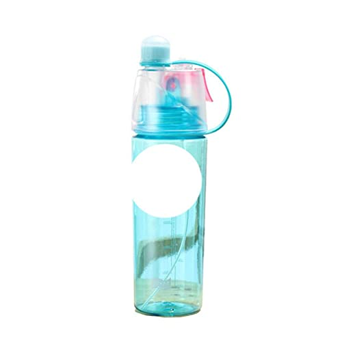 Nuevo 400 / 600Ml 3 colores Spray de plástico sólido Cool Summer Sport Botella de agua portátil Escalada Outdoor Bike Shaker My Water Bottles-400ml, AZUL