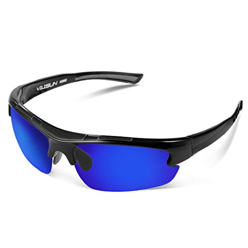 V VILISUN Gafas de Sol Polarizadas Gafas de Ciclismo con Protección UV400 para Hombre Mujer Gafas Deportivas Retro Conducir un Coche Correr Pesca Esquí Golf Ciclismo Gafas de Viaje Premium