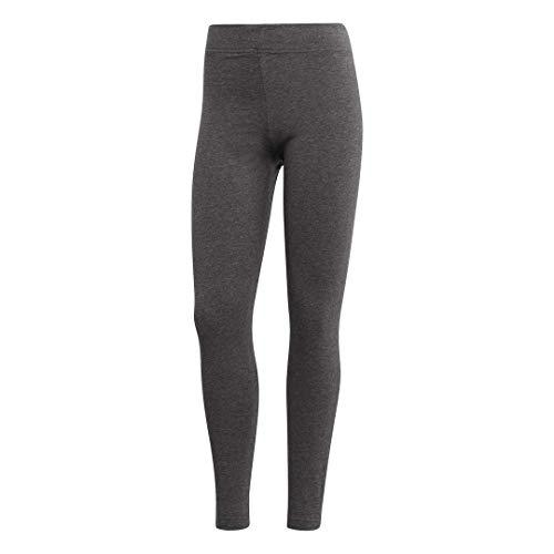 adidas Essentials Women's Linear Tights, Dark Grey Heather/Semi Coral, XX-Small