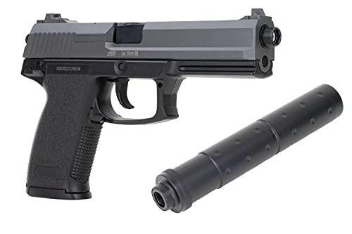 ASG Softair Pistole DL60 Socom HK MK23 inkl. Schalldämpfer <0,5 Joule Federdruck