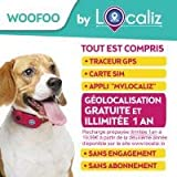 LOCALIZ Woofoo Traceur GPS pour Chien (Rose Fluo)