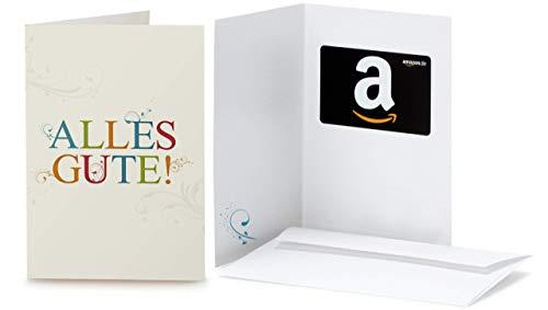 Amazon.de Geschenkkarte in Grußkarte (Alles Gute)