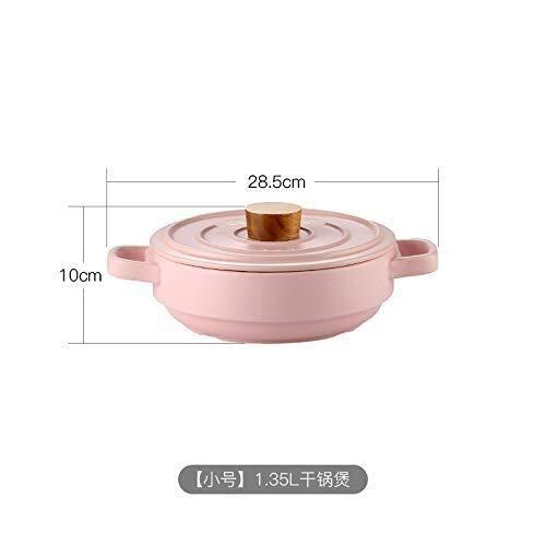 CS-DG Macaron Candy-Colored Keramische Steamer Stack Pot Hoge Temperatuur Resistant Open Vlam Alles-in-een Casserole Pap Klei Pot met Deksel