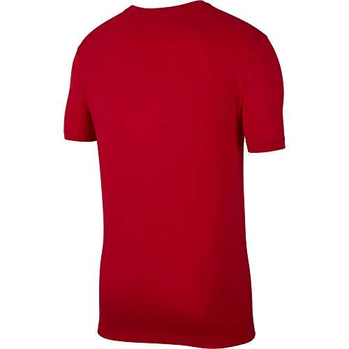 Nike Herren M NSW Club Tee T-Shirt, University red/(White), M