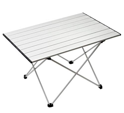 Campingtisch AluminiumEsstisch Klappbar Gartentisch Picknicktisch Leicht Klapptisch Garten Camping Tisch Grill Campingmöbel Wetterfest Reisetisch Falttisch für Picknick BBQ Angeln Balkon (Silber)
