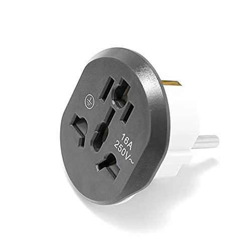 Adaptador de corriente universal mundial UE Adaptador de enchufe universal 1 6A 250V AU US UK CN para UE Socket de pared para UE Zócalo convertidor C.A. Adaptador de viaje Enchufe de viaje con adaptad