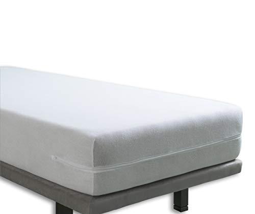 Tural - Fodera coprimaterasso con cerniera. Spugna 100% cotone. Singolo 80x190/200cm