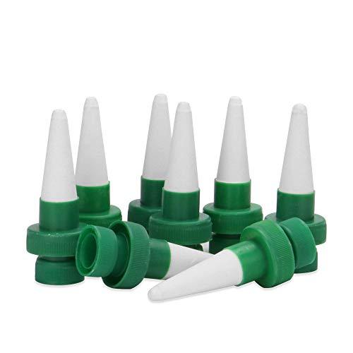 Ensemble de 8 pointes d'arrosage pour plantes en céramique | Abreuvoir automatique | Dispositifs d'arrosage des plantes | Système d'arrosage | Kit d'irrigation goutte à goutte | M&W