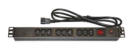 Link LK10052 Multipresa 9 Prese Femmina IEC C13 per Armadi Rack 19
