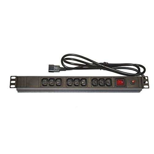 Générique Multiprise noir 3 prises spéciale onduleur avec fiche IEC C14