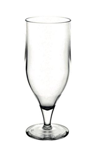 Verres à bière incassables en polycarbonate - Lot de 6 (33 cl).