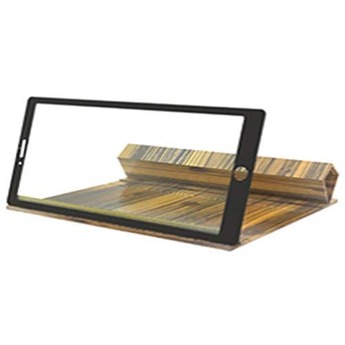 12 Zoll Antireflex-Holzklapplupe Hochauflösender 3D-Handy-Bildschirm Clamshell-Verstärker (goldene Holzmaserung;) BCVBFGCXVB