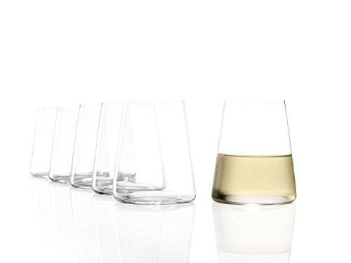 Stölzle Lausitz Power Weinbecher ohne Stiel I 380 ml I 6er Set Weißwein Gläser I spülmaschinenfest I bleifreies Kristallglas I hochwertige Qualität I Elegante und bruchbeständige Weingläser