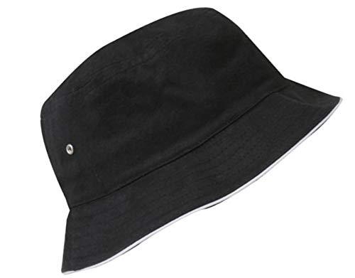 Sombrero del Pescador Algodón Plegable Bucket Hat Unisex Al Aire Libre Proteccion Solar