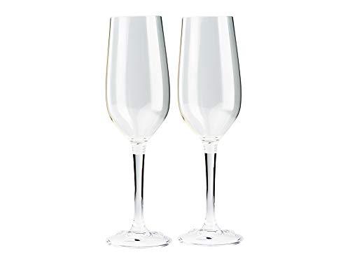 GSI Outdoors Nesting Champagne Flute Set de verres unisexe pour adulte, transparent, taille unique