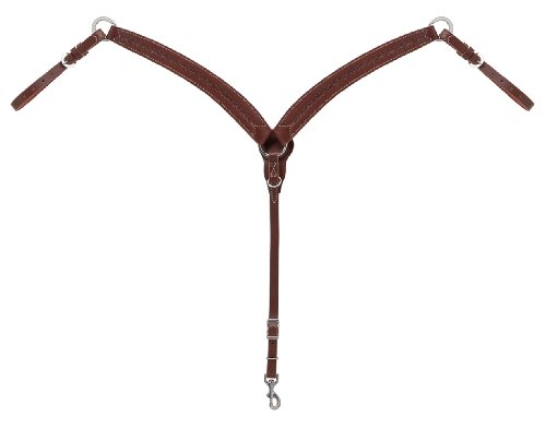 Weaver Leather Barbed Wire Contoured Breast Collar, Brown