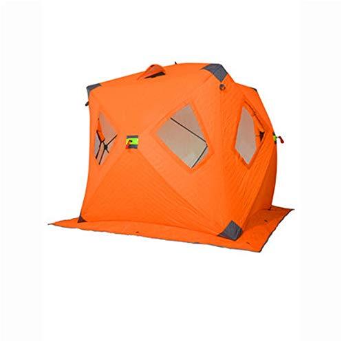 ZDAMN Tienda de campaña de Invierno Caliente Naranja Turismo al Aire Libre de Hielo Pesca Carpa frío y el Viento Resistente Grueso Orange 3-4 Personas Pesca Refugio de Hielo portátil portátil