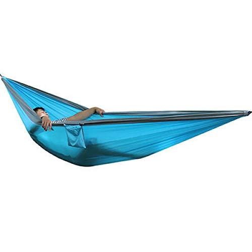 YHWW Hamaca,2-3 Personas Hamaca King Size Supervivencia al Aire Libre Camping Ocio Patio Jardín Terraza Doble Hamaca 300 * 200cm 118 * 78 Pulgadas, Igual Que en la imagen3