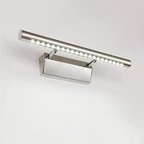 ASNHJH Luz De Espejo LED Lámpara Giratoria para Mueble De Baño IP44 Lámparas De Iluminación Frontal De Maquillaje Antiniebla De Acero Inoxidable De 15W, 105cm (Color : Cold White, Talla : 105CM 15W)