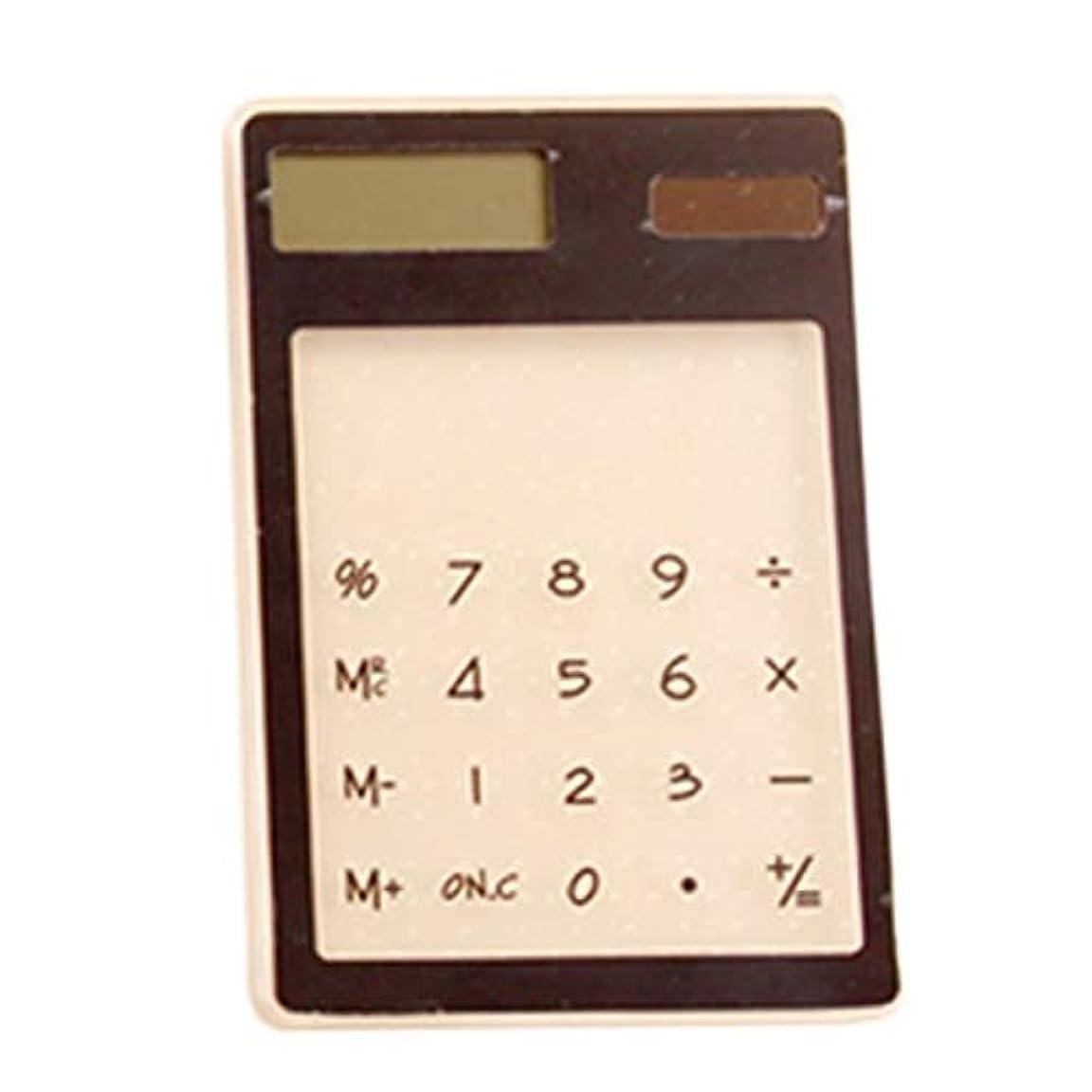 なめらか目指す振動させるTool Parts - 1個 携帯用 透明 科学電卓 キュート ポケット 太陽電卓 - ダイレクト パーツ 収納 オーガナイザー カート トレー ツール ツール パーツ 太陽電池式 ファッション 電卓 ランプ アウトドア ブラック