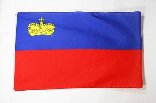 AZ FLAG Flagge Liechtenstein 90x60cm - LIECHTENSTEINISCHE Fahne 60 x 90 cm - flaggen Top Qualität