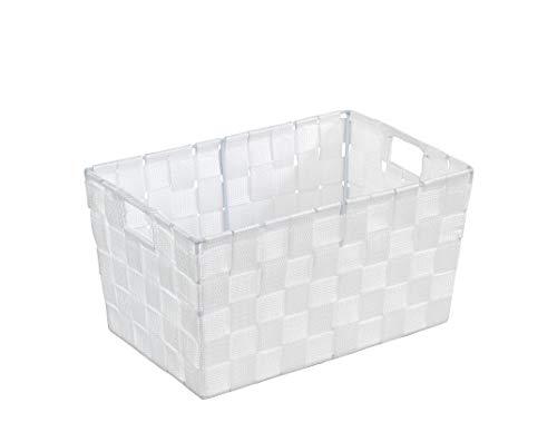 WENKO Aufbewahrungskorb Adria S Weiß - Badkorb, Polypropylen, 30 x 15 x 20 cm, Weiß