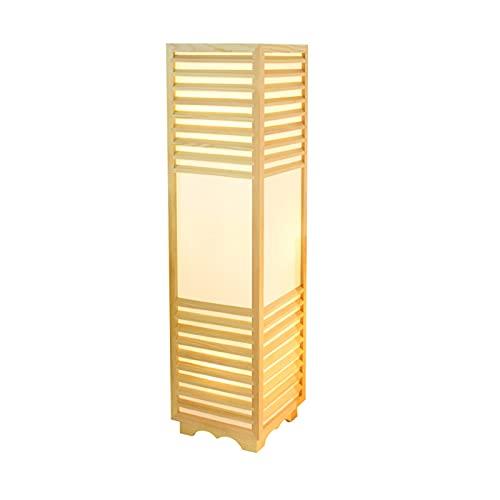 Lámpara de pie de Estilo japonés Tatami Lámpara de Mesa Coreana y lámpara de habitación Simple Creative Suelo de Madera Lámpara de Estilo Chino Lámparas y linternas (Color : White Light)