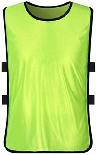 Outdoor zichtbaarheid reflecterend vest Vest Reflecterende Safety Hiking Vesten Teamsporten Voetbal Training Vesten fluorescerende kleur slabbetjes Basketball Netball Cricket Soccer Tops, Fluorescent