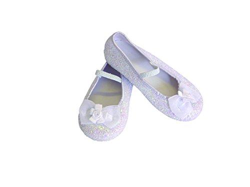 Travis - Chaussures Fille - Ballerines Pailletées. Taille 25 / 26. Couleur Blanche.