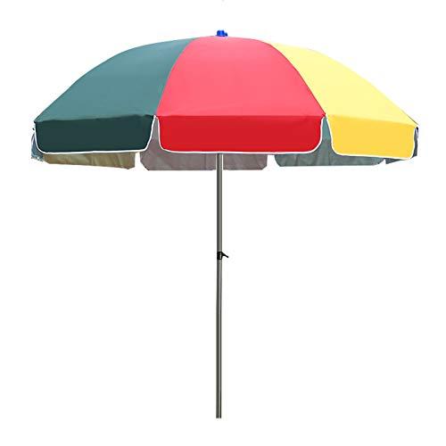 KUWD 2.4M Sombrilla De Playa Parasol,sombrilla De Jardín De Color,Paraguas Al Aire Libre Ajustable,Utilizado para Balcón, Patio Trasero, Camping