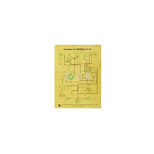 Schaltplan Farbposter (40x57cm) S51/1 B (12V, beidseitig Glanzcello, schmutzabweisend)