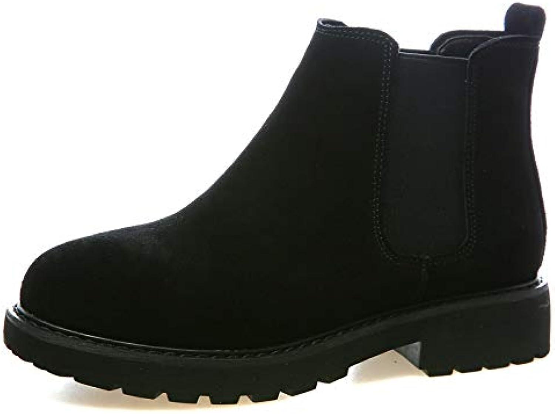 HOESCZS Frauen Schuhe Herbst Martin Stiefel Stiefel Weibliche Raue Niedrige Ferse Frauen Schuhe Niedrige Stiefel  Marken online billig verkaufen