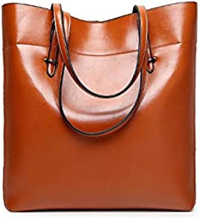 Fashion Brown Leather Shoulder Bag For Women Trendy Elegant Tote Bag European Style Ladies HandBag