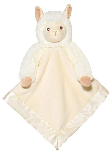 Bearington Baby Lil' Alma Snuggler, Llama Plush Stuffed Animal Security Blanket, Lovey 15""