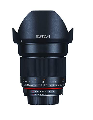 Rokinon 16M-C 16mm f/2.0 Aspherical Wide Angle...