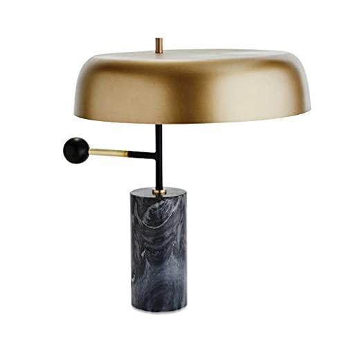 Lámpara moderna de la mesa de la decoración de la decoración americana de mármol creativo de la sala de estar de la decoración de la lámpara de la mesa de la mesa de la mesa de la mesa de dormitorio,