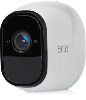 Arlo Pro Smart Home 1 HD-Überwachungskamera-Sicherheitssystem (100% Kabellos, 720p HD, 130 Grad Blickwinkel, Nachtsicht, Basisstation, 100 dB Sirene) weiß, VMS4130-100EUS