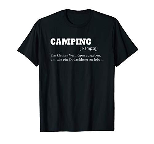 Camping Erklärung - für alle Camper und Abenteurer T-Shirt