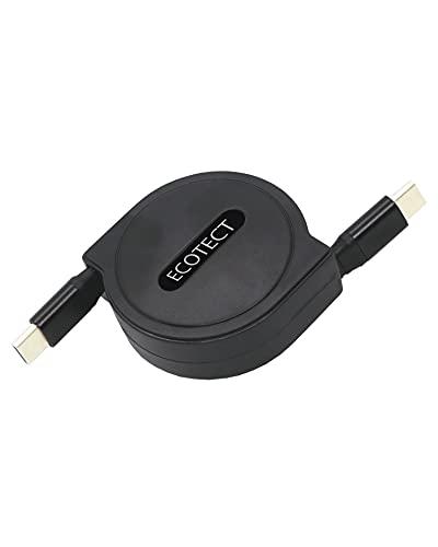 ECOTECT Type-C to Type-C (巻取式) 充電ケーブル 最大60W 20V 3A(PD対応)USB2.0最大480Mbpsの高速データ転送(1m)急速充電 断線防止