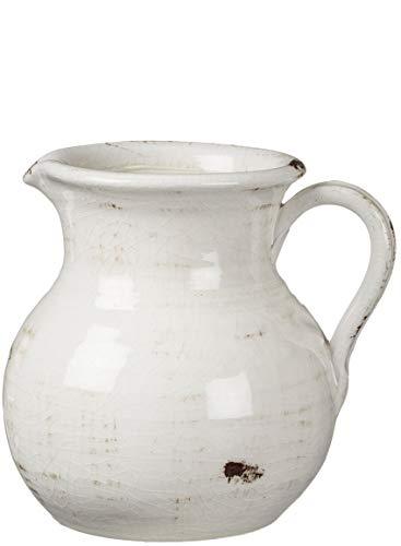 Sullivans Modern Farmhouse Decorative Ceramic Pitcher, 9 x 7 x 8 inches, Distressed Farmhouse...