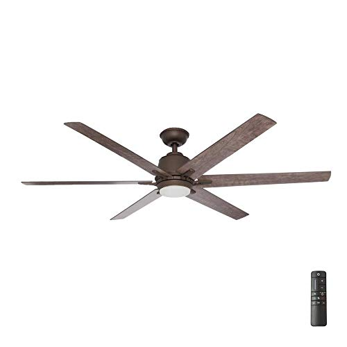 """Home Decorators Collection YG493B-EB Kensgrove 64"""" LED Espresso Bronze Ceiling Fan with Remote Control"""