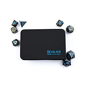 DND Metal Dice Set | 8 High Definiton, Polyhedral Dice for RPG, Dungeons & Dragons | by Hexblade Gaming | Inc. 2 x D20…