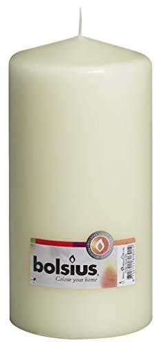 Bolsius Pillar Candle Large , 'Ivory 100 mm Width'