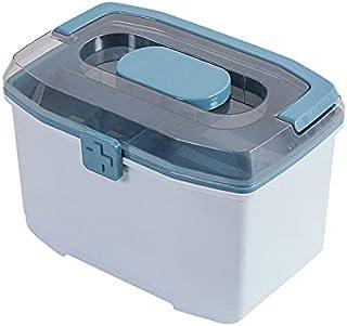 KU Syang Medicine Box Plastic First Aid Kit Storage Box Large Capacity Family Emergency Sundries Organizer Cabinet with Ha...