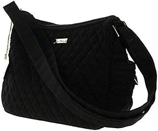Vera Bradley On The Go Crossbody Shoulder Bag Purse in Classic Black
