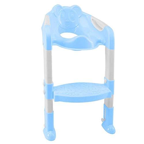 Asiento de entrenamiento para ir al baño del bebé Respaldo del orinal Asiento de inodoro para niños con escalera ajustable Asiento plegable de entrenamiento para inodoro infantil A1